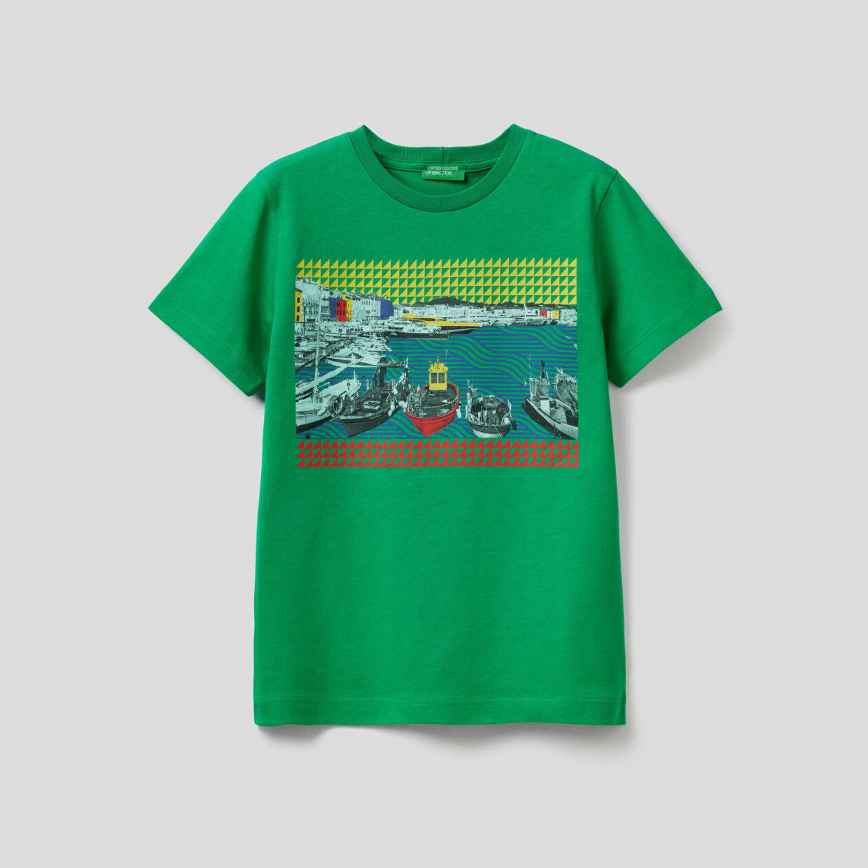 Camiseta con estampado de paisaje