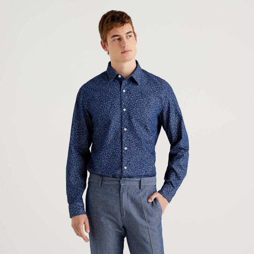 Camisa estampada de 100 % algodón