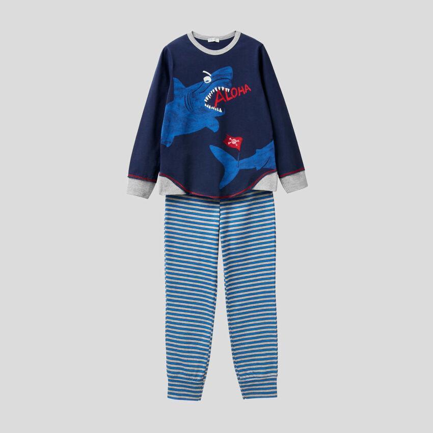 Pijama con estampado luminiscente
