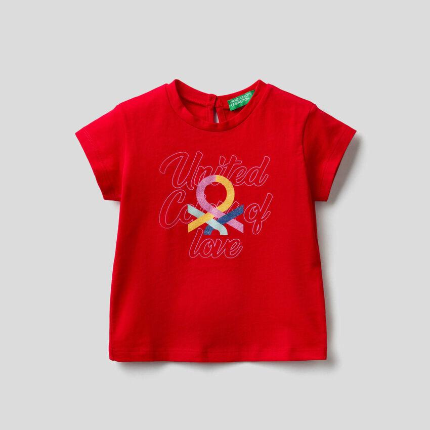 Camiseta de algodón orgánico con estampado