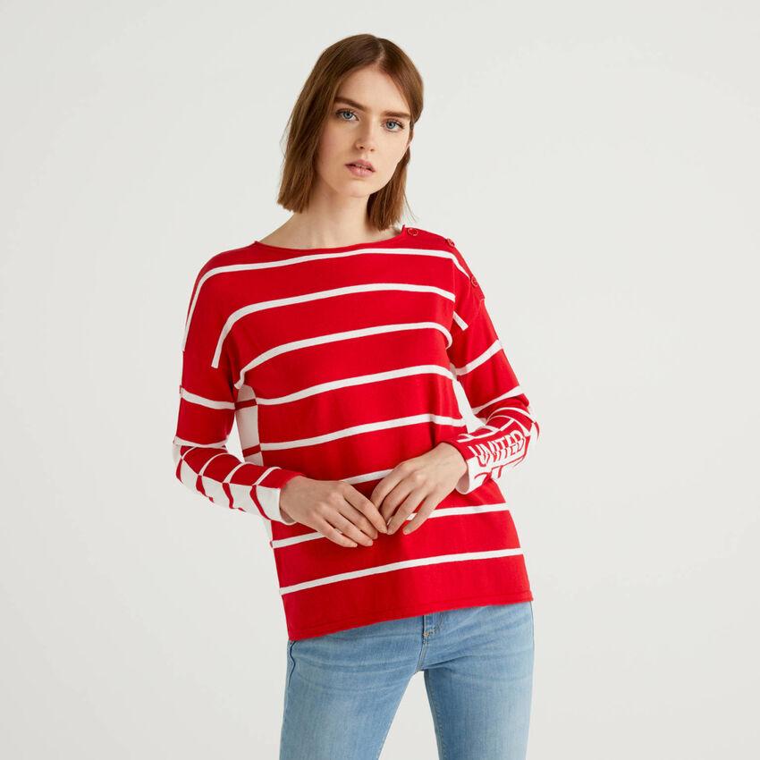 Jersey de rayas de 100% algodón
