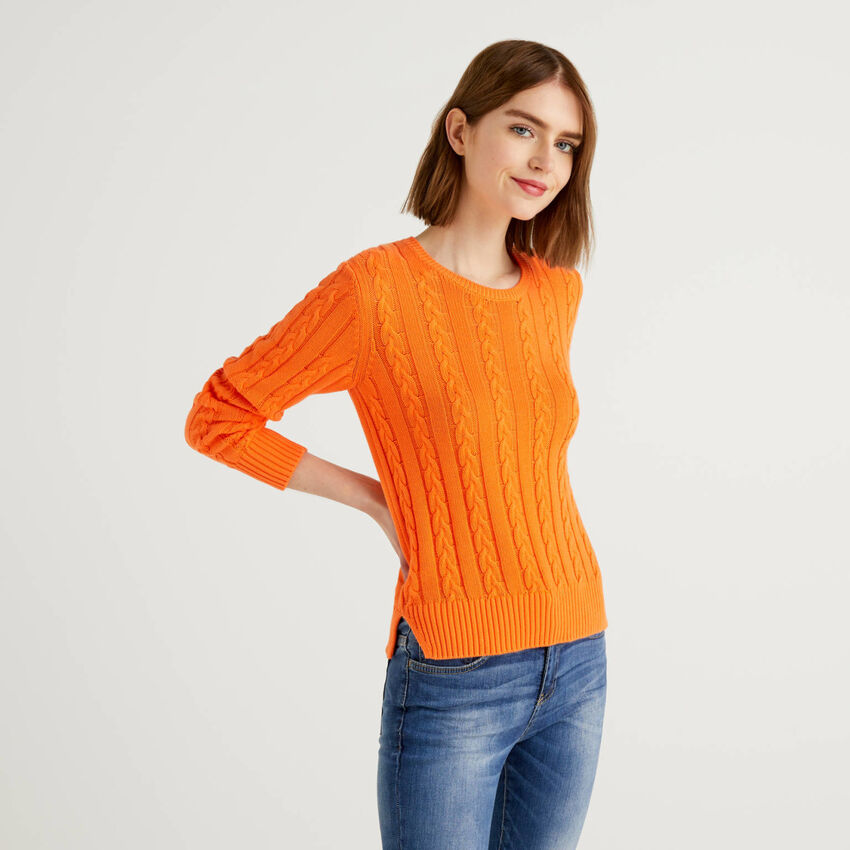 Jersey de algodón con labrado de ochos