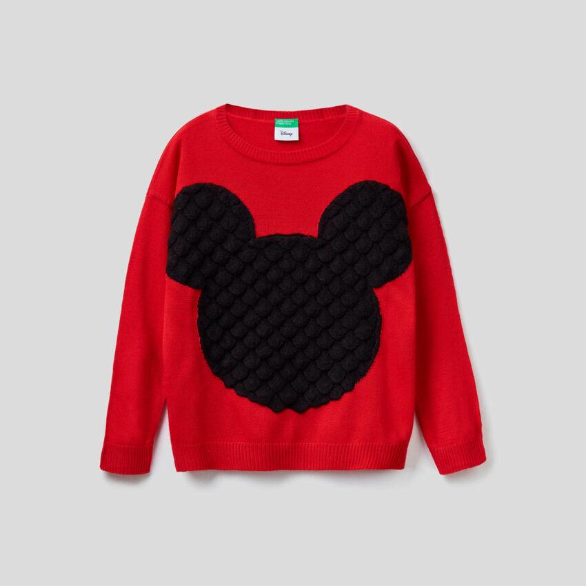 Jersey con grabado de Mickey en relieve