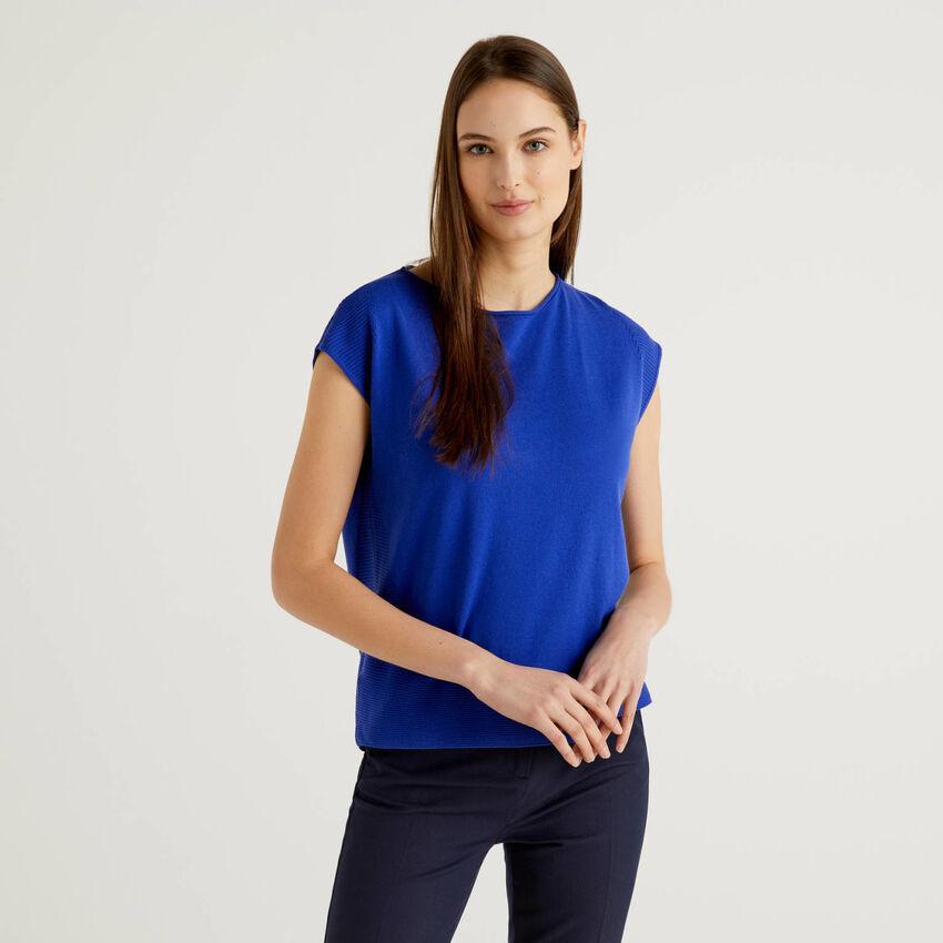 Jersey de tricot de manga corta