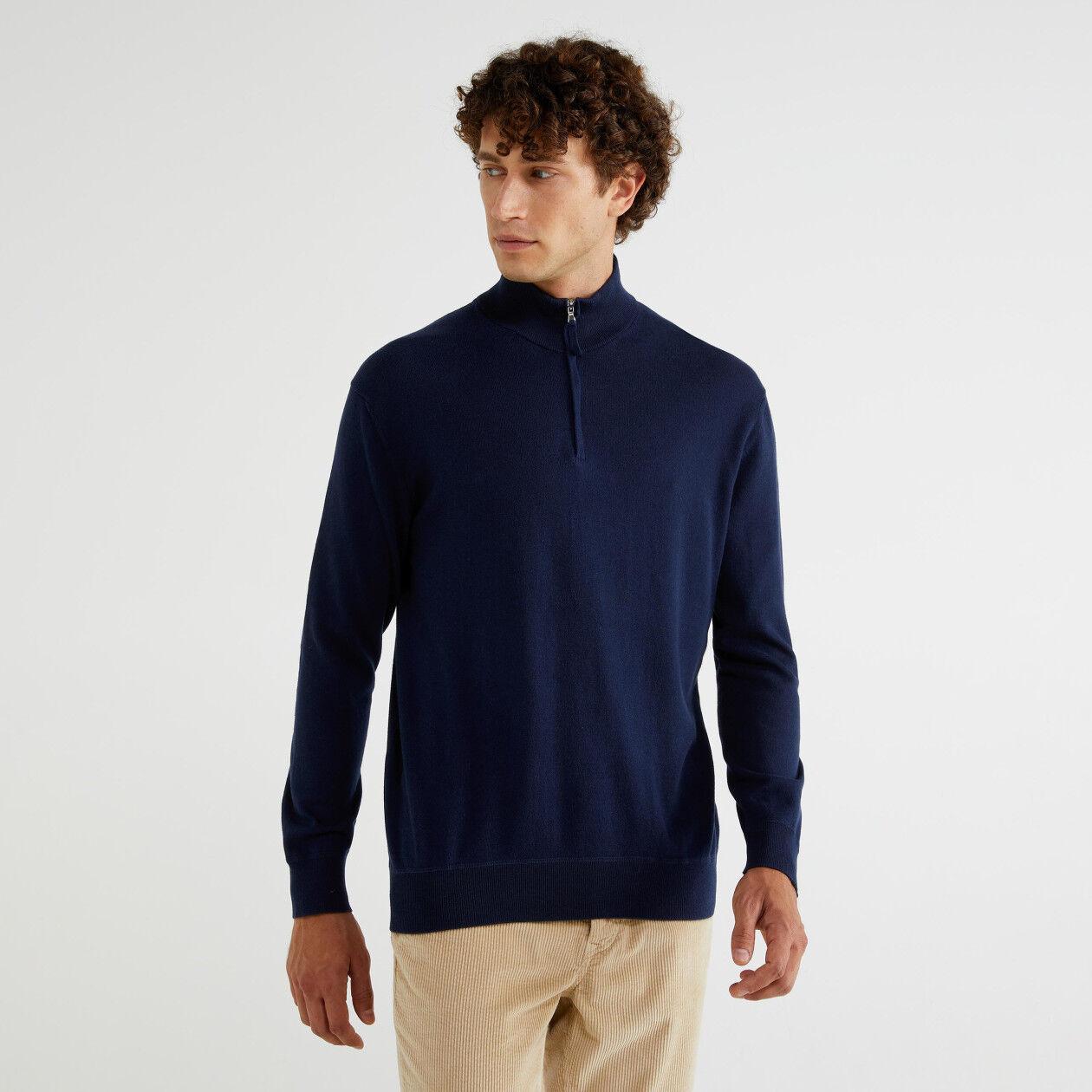 Jersey de cuello alto con cremallera