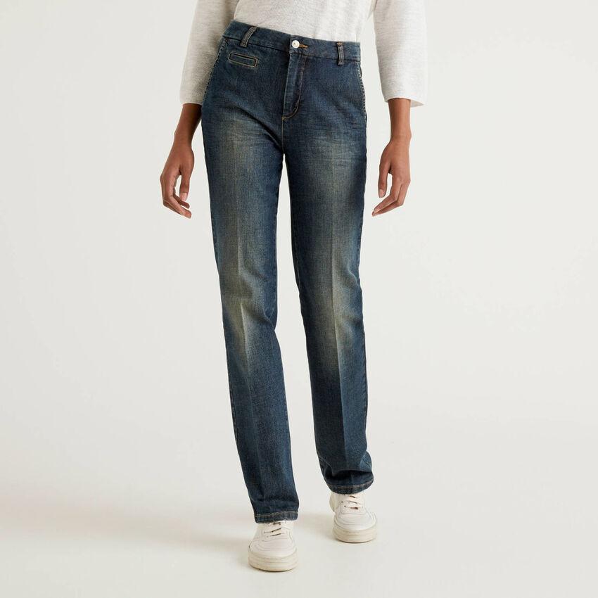 Pantalones chinos de denim elástico