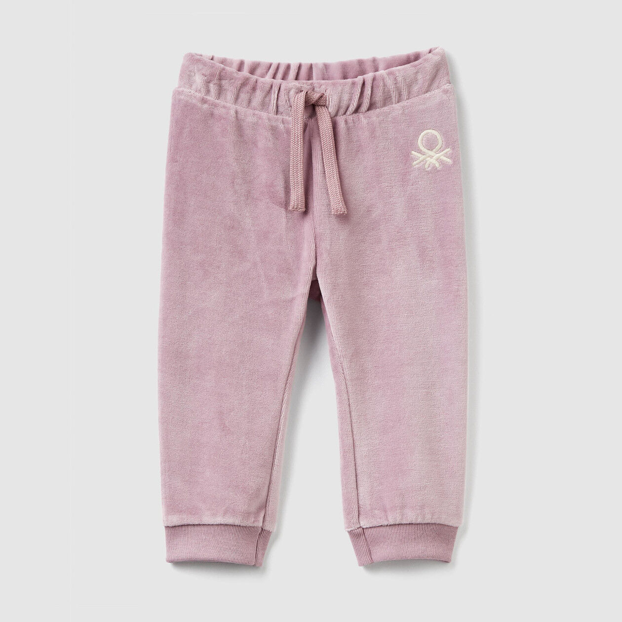 Pantalón de chenilla con cordón de ajuste
