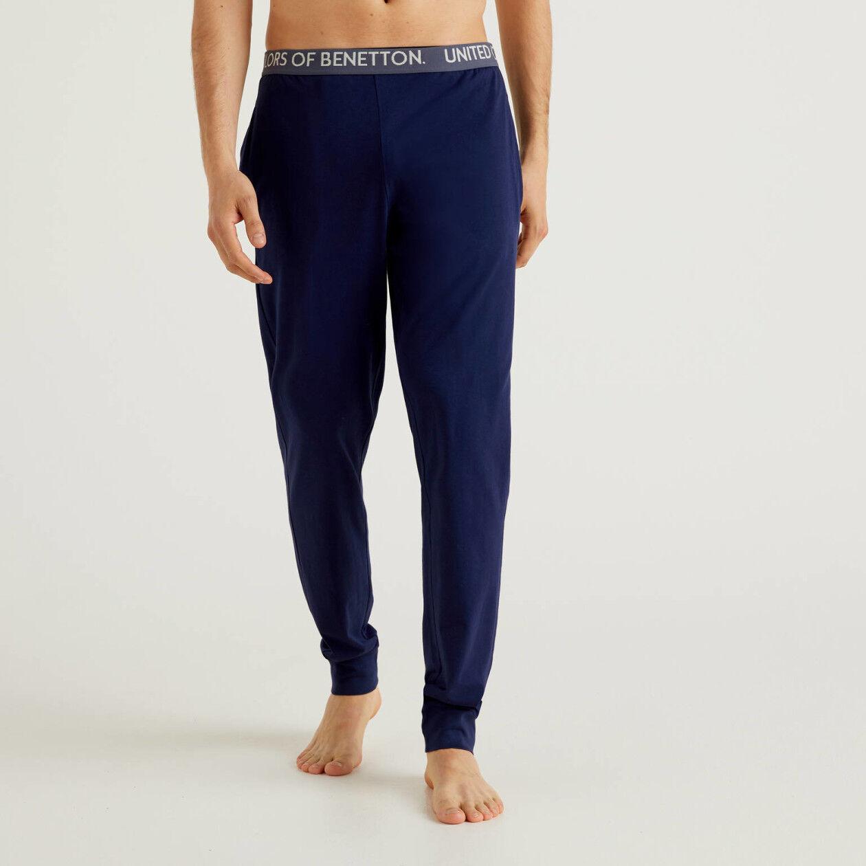 Pantalón con elástico con logotipo