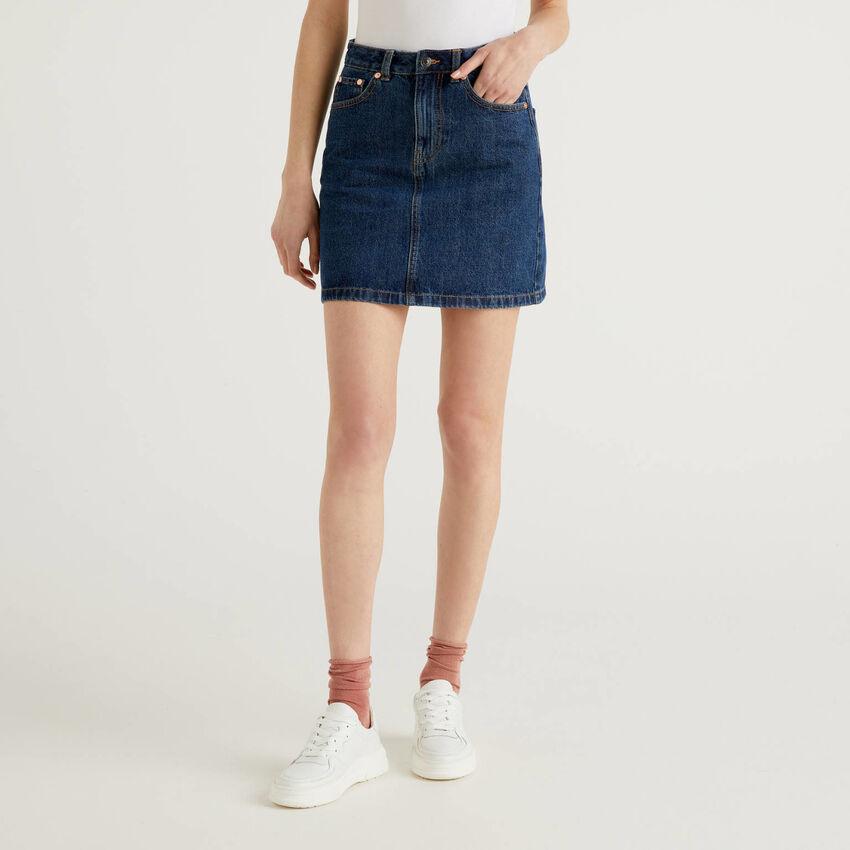 Minifalda vaquera de 100% algodón