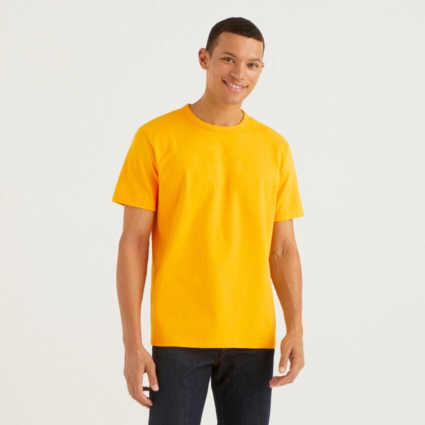 Camiseta de cuello redondo de 100 % algodón