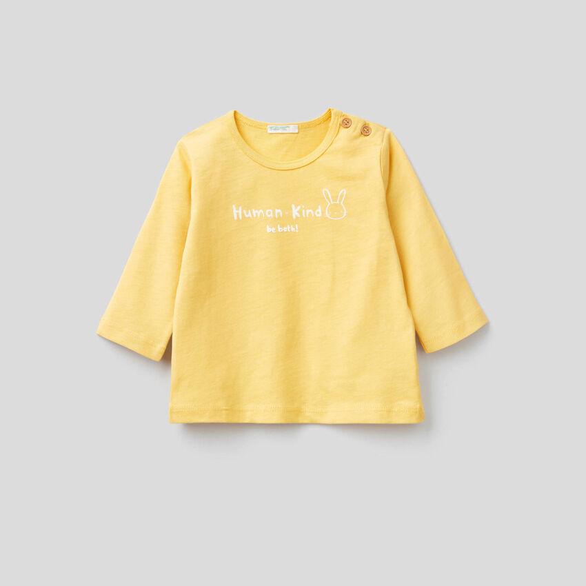 Camiseta de 100 % algodón orgánico suave