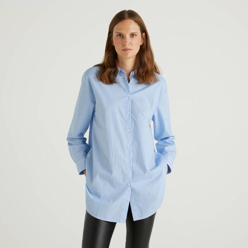 Camisa de rayas de 100 % algodón