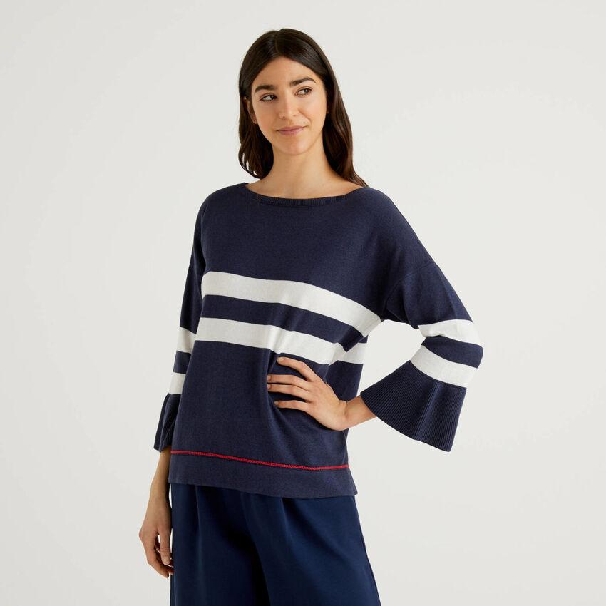 Jersey con manga evasé