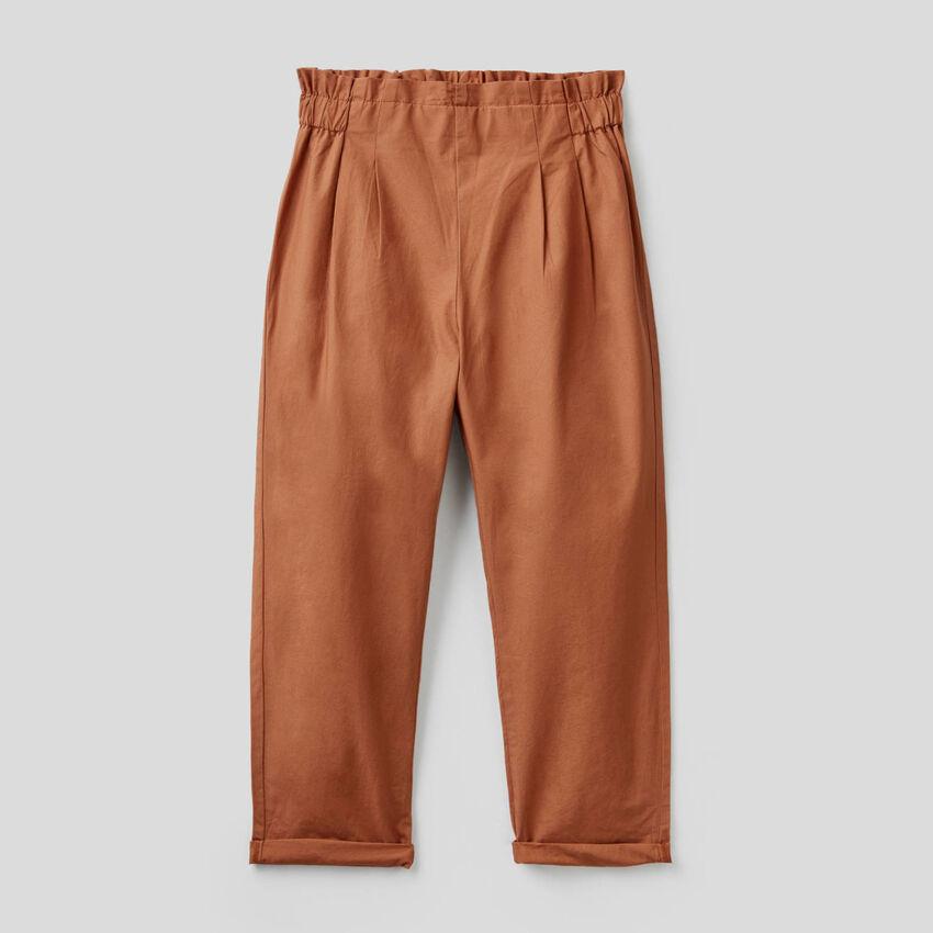 Pantalón largo de 100% algodón