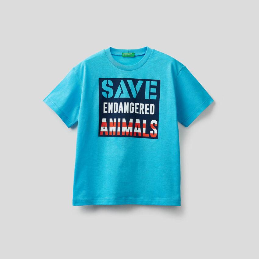 Camiseta de 100% algodón con estampado