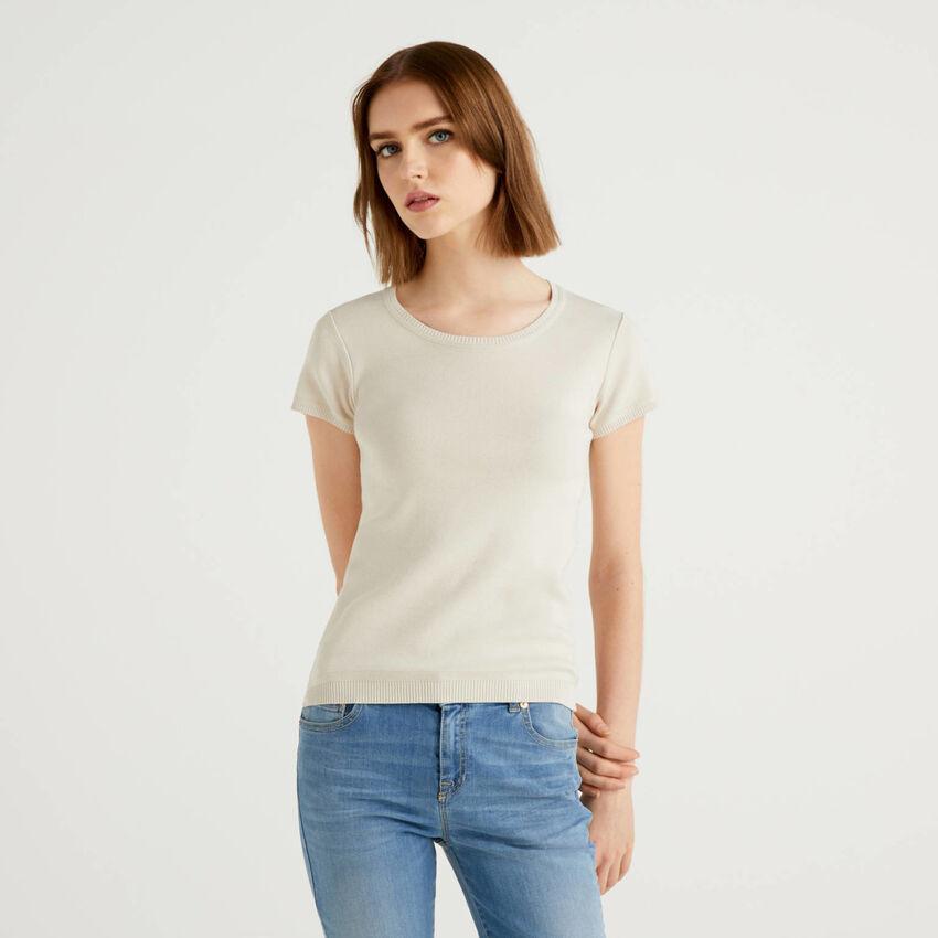 Jersey de manga corta de 100 % algodón