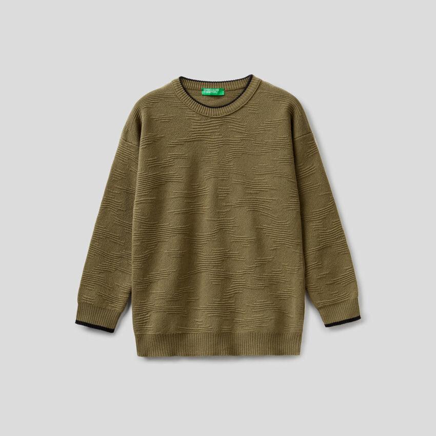 Jersey labrado en algodón 100%
