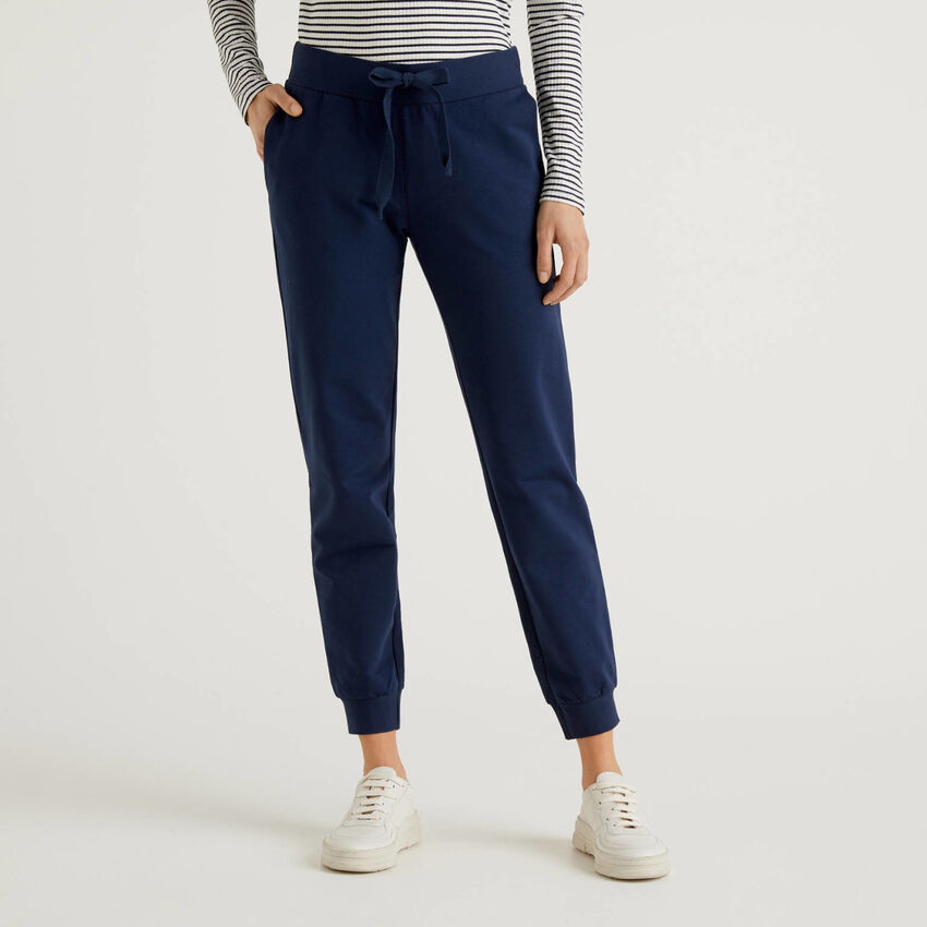 Pantalón de felpa de algodón elástico
