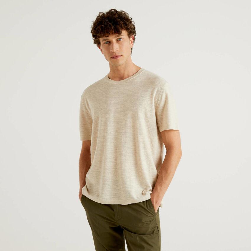 Jersey de tricot de lino mixto