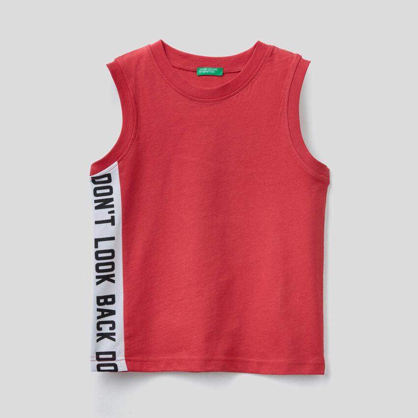 Camiseta de tirantes con banda en contraste