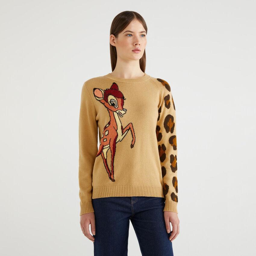 """Jersey con grabado de """"Bambi"""""""