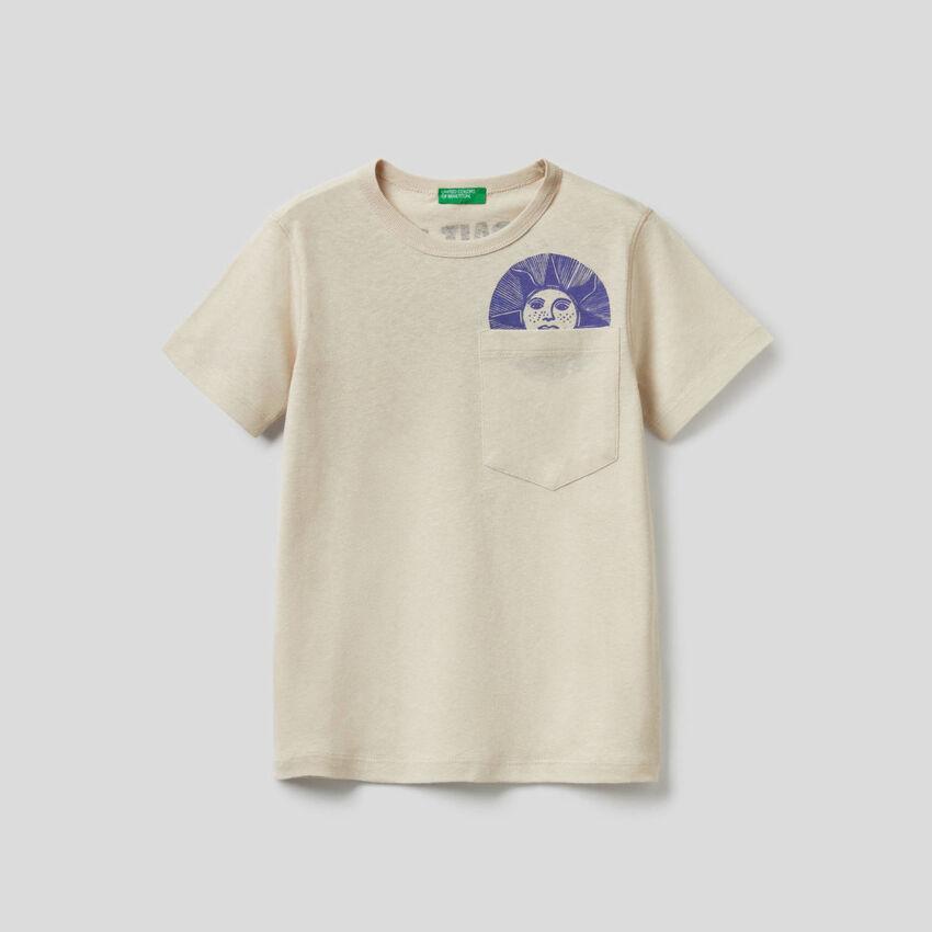 Camiseta con eslogan estampado