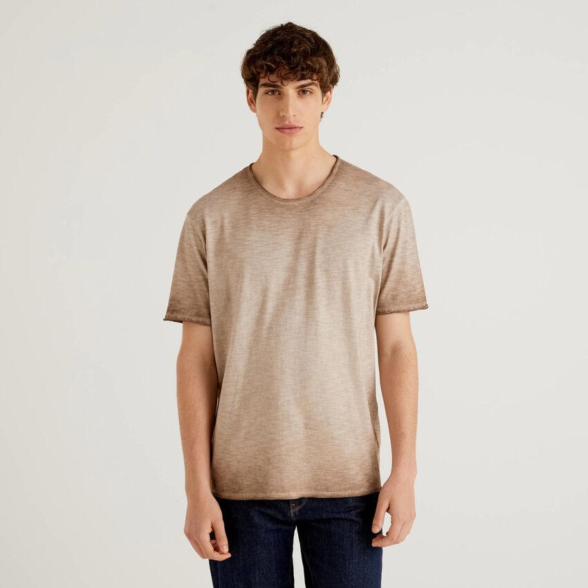 Camiseta de algodón con efecto degradado