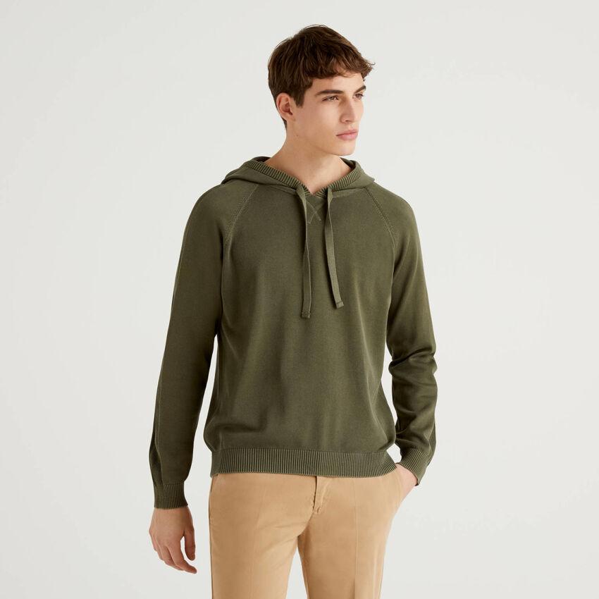Jersey de 100 % algodón con capucha