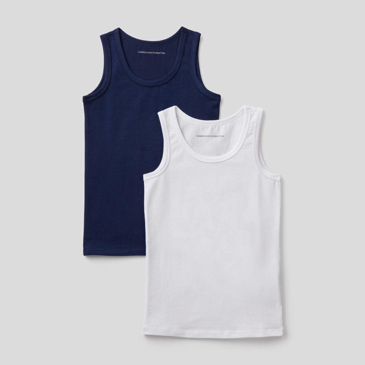 Dos camisetas de tirantes de algodón elástico