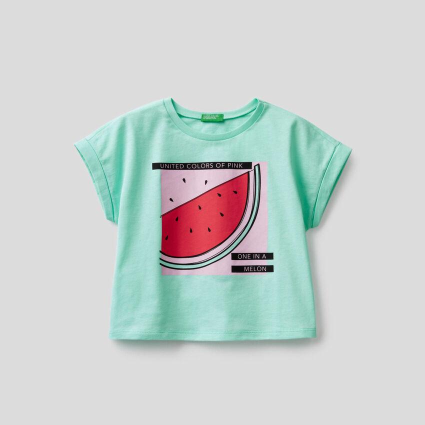 Camiseta boxy con estampado