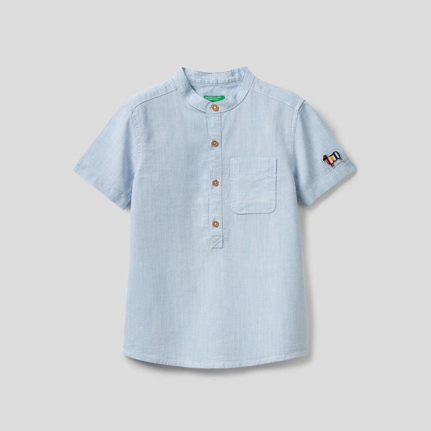 Camisa de manga corta de 100% algodón