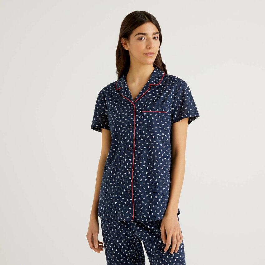 Camisa de pijama de algodón puro