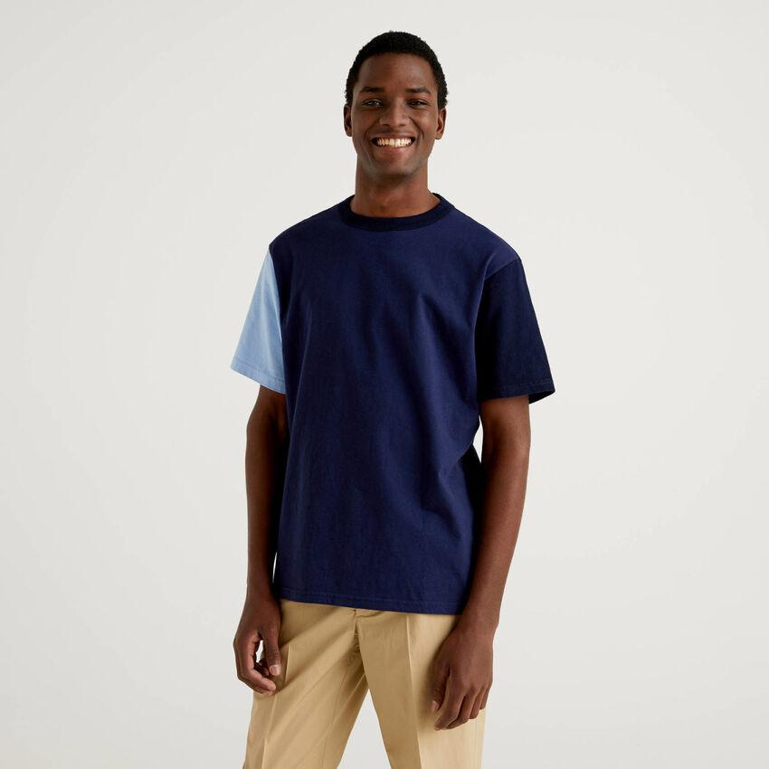 Camiseta color block de manga corta