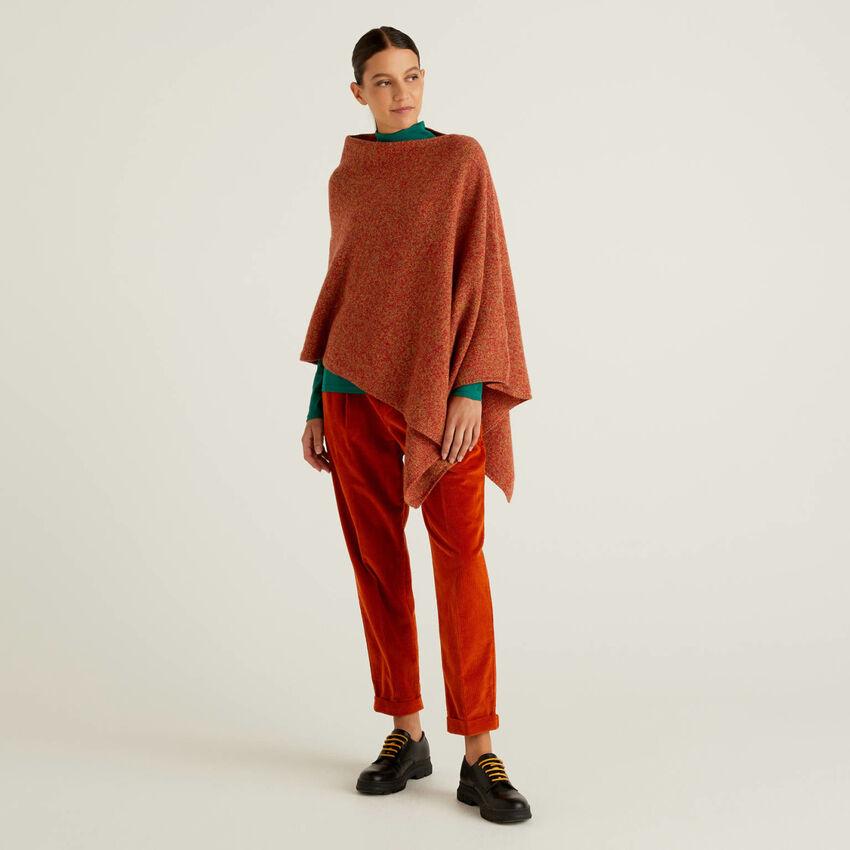 Capa de pura lana tricot Shetland