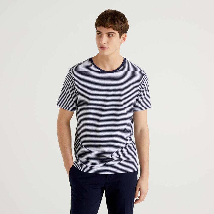 Camiseta de rayas de algodón 100 %