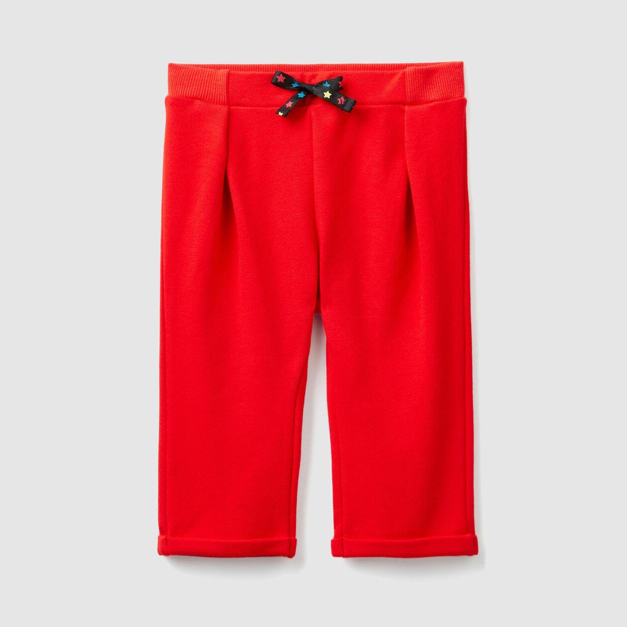 Pantalón de felpa con vuelta