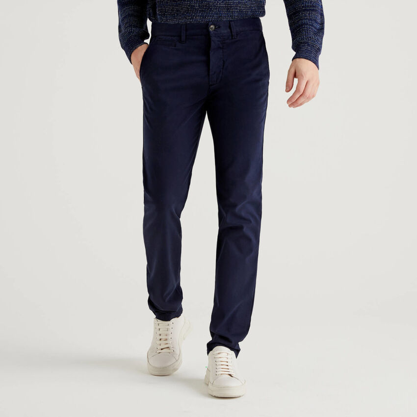 Chinos slim fit azul oscuro