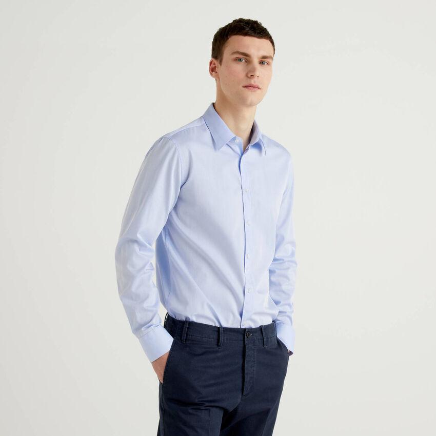 Camisa ceñida de 100 % algodón