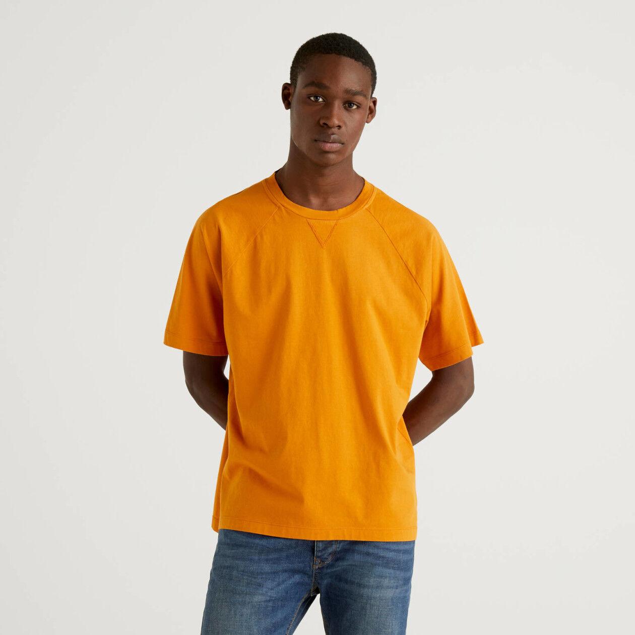 Camiseta de 100 % algodón con manga raglán