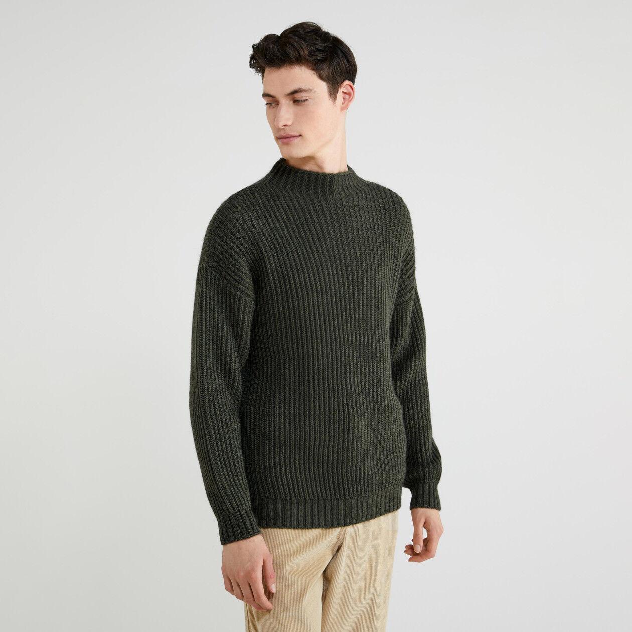 Jersey de cuello alto de lana y alpaca