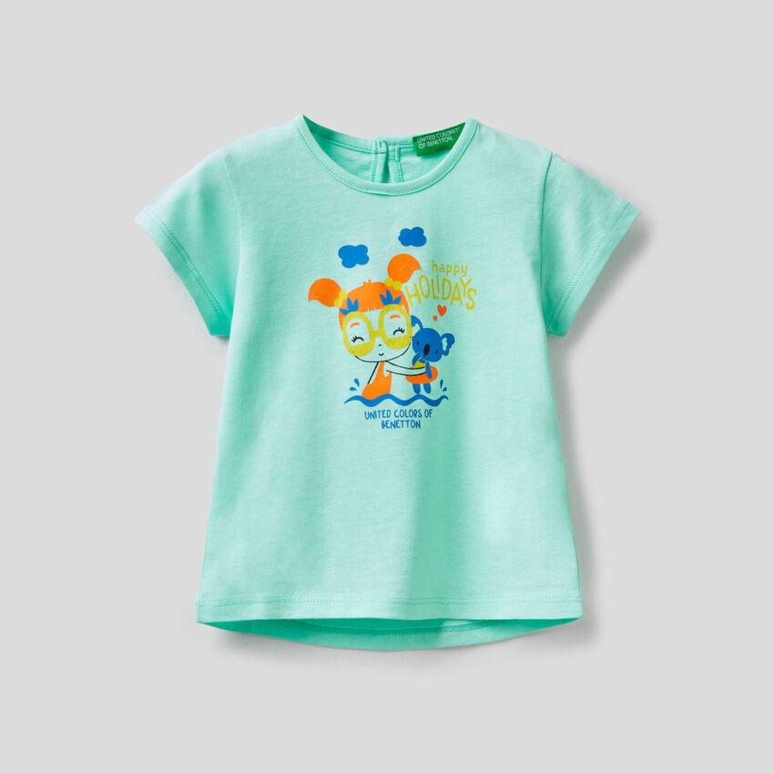 Camiseta con estampado flúor