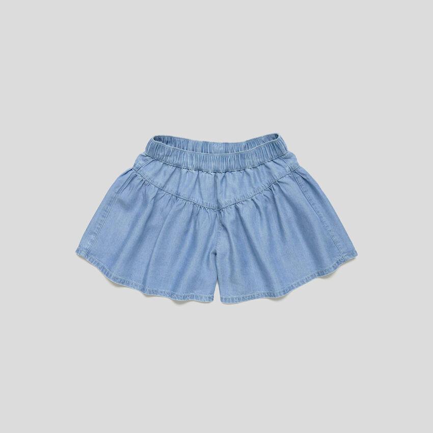 Falda pantalón de cambray