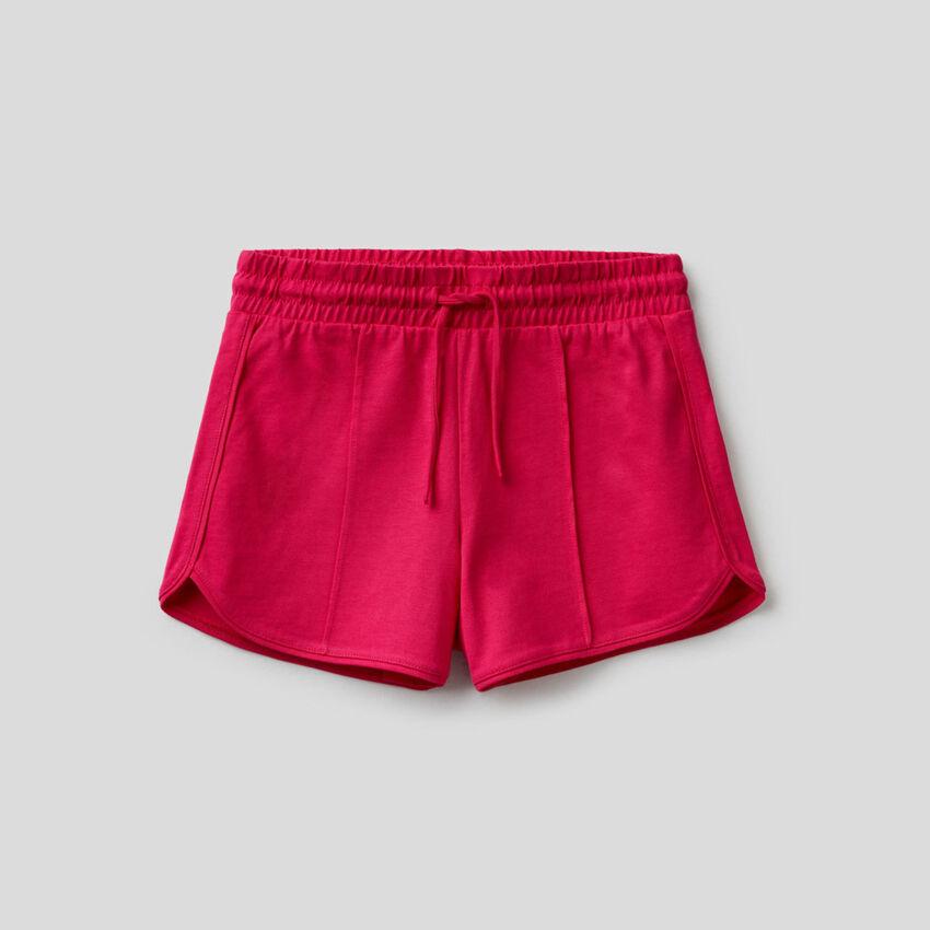 Pantalón corto liso de 100% algodón