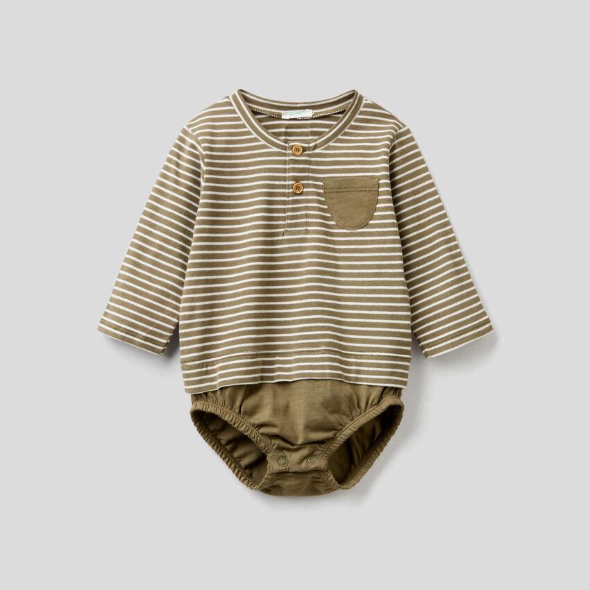 Body de efecto camiseta de algodón orgánico