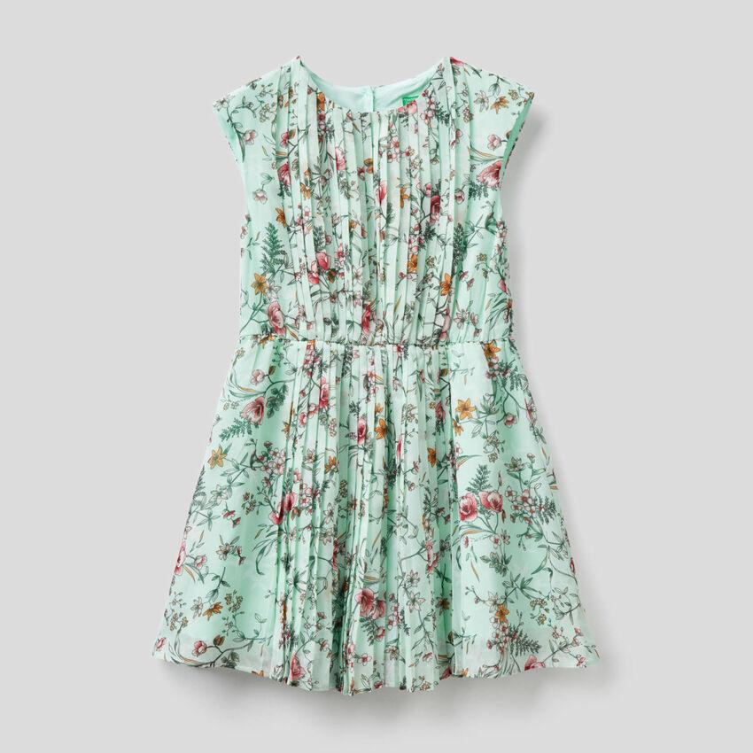 Vestido sin mangas con estampado floral