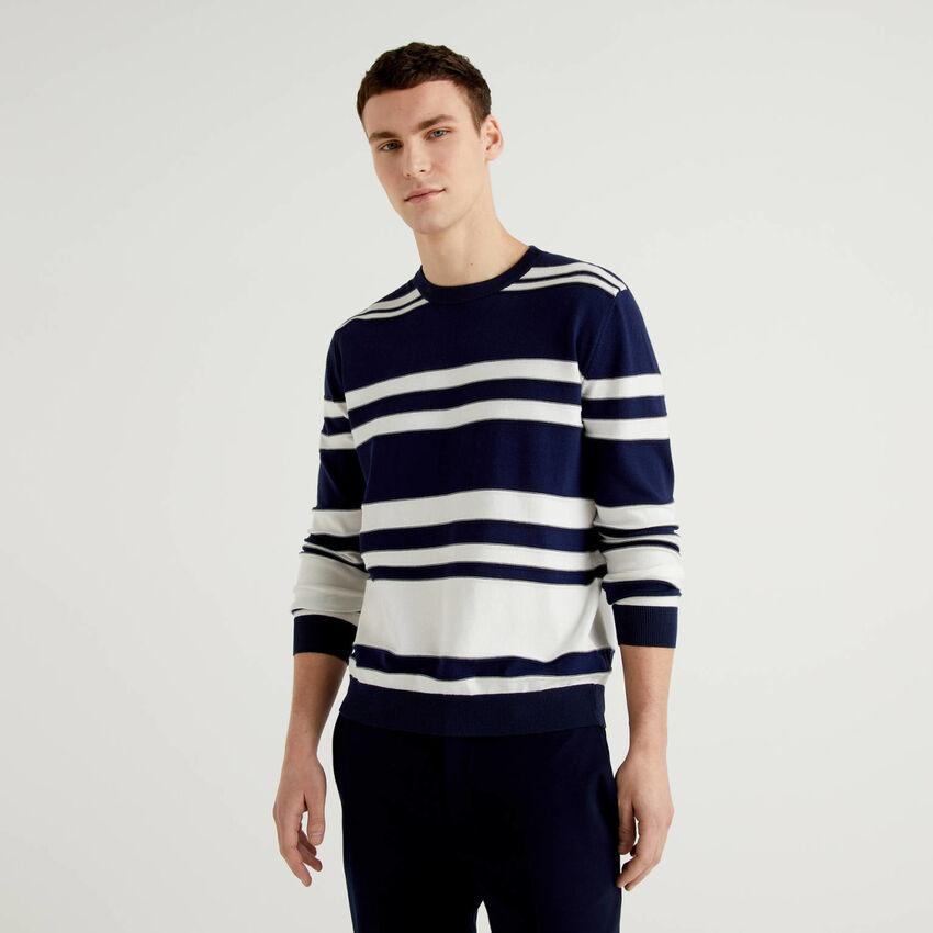 Jersey de rayas de 100 % algodón
