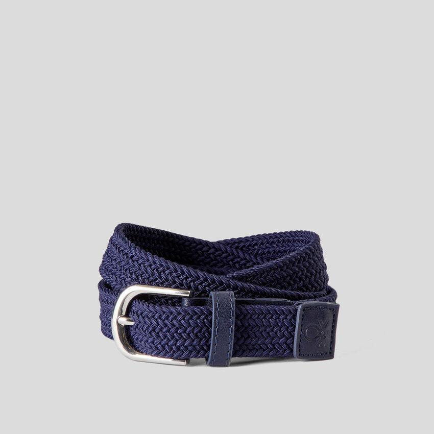 Cinturón trenzado en tejido