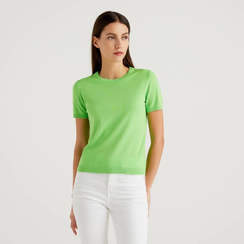 Jersey de manga corta de algodón mixto
