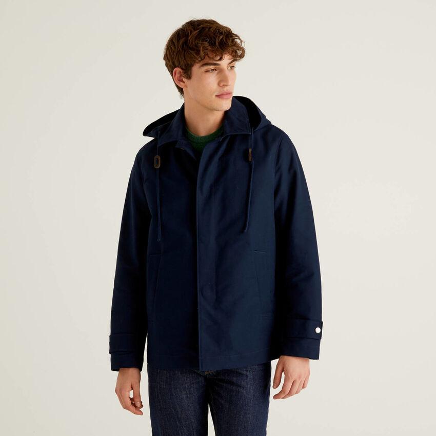 Cazadora de 100 % algodón con capucha