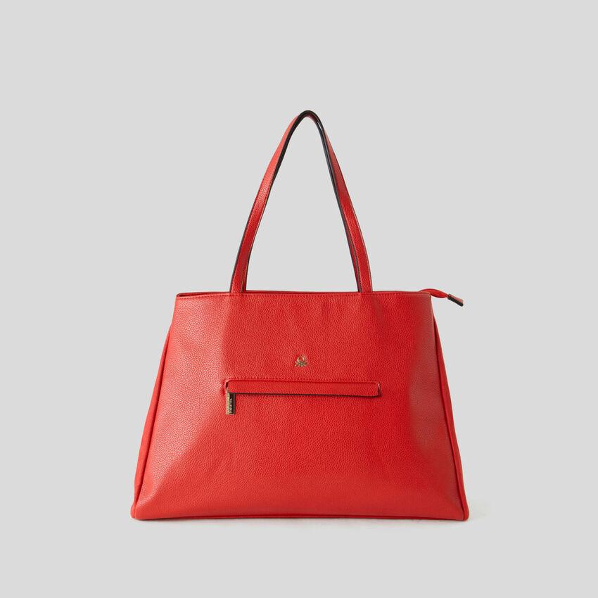 Shopping bag con compartimento doble